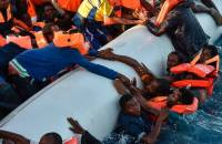 Desperate migrants are pulled from the sea off Libya