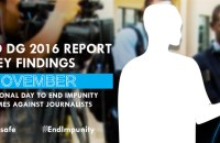 CRIMES AGAINST JOURNALISTS. Image taken from UNESCO report.