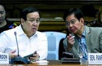 Senators Panfilo Lacson and Richard Gordon. INQUIRER PHOTO / RICHARD A. REYES