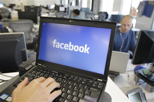 This Feb. 8, 2012, file photo shows a view inside Facebook headquarters in Menlo Park, California. AP