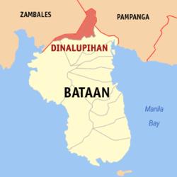 Dinalupihan, Bataan (Wikipedia maps)