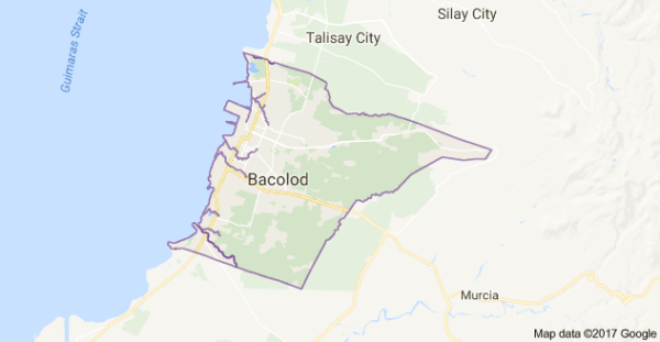 Bacolod City, Negros Occidental (Google maps)