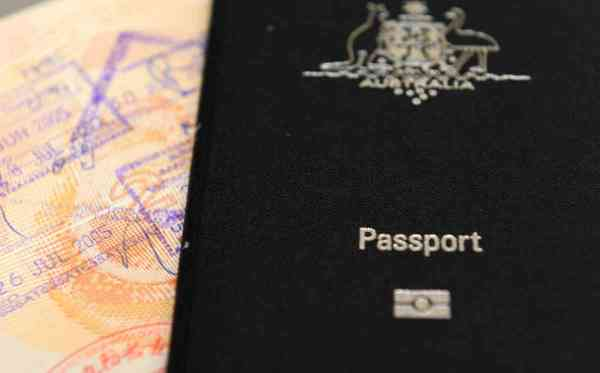 An Australian passport pictured in Brisbane, Thursday, July 25, 2013. (AAP Image/Dan Peled) NO ARCHIVING