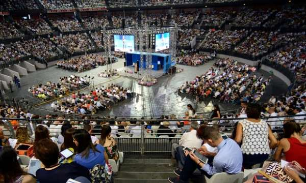 The Congress of Jehovah's Witnesses on 15 July in Rome. Photograph: Simona Granati/Corbis via Getty Images