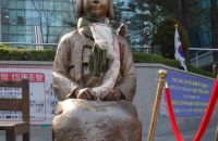 The statue of a Comfort Woman stands as a constant sign of protest