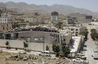 A funeral hall where 140 people died after an airstrike by Saudi-led forces in October 2016 in Sana'a. Photograph: Hani Mohammed/AP