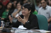 REJECTED. Social Welfare Secretary Judy Taguiwalo respond to questions in her final confirmation hearing on August 16, 2017. Photo by Alex Nueva Espana/PRIB