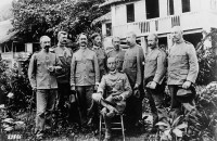 U.S. General John Pershing with a group of officers at Zamboanga, Mindanao.