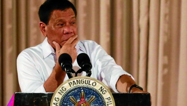 President Rodrigo Duterte. JOAN BONDOC/INQUIRER FILE PHOTO