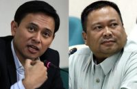 Left and right, Senators Sonny Angara and JV Ejercito. INQUIRER FILES