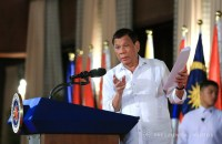 President Rodrigo Roa Duterte, in his speech during the ASEAN Law Association (ALA) Governing Council Commemorative Session and Concert Program at the Malacañan Palace on October 25, 2017, tackles the enormity of the illegal drug problem on the country and how he intends to address the issue. Malacañan Photo