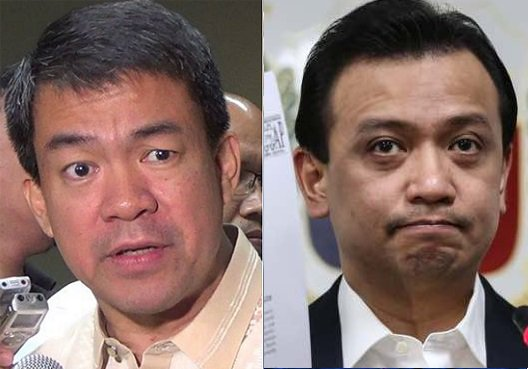 """Senate President Aquilino """"Koko"""" Pimentel (left) and Sen. Antonio Trillanes INQUIRER FILE PHOTOS"""