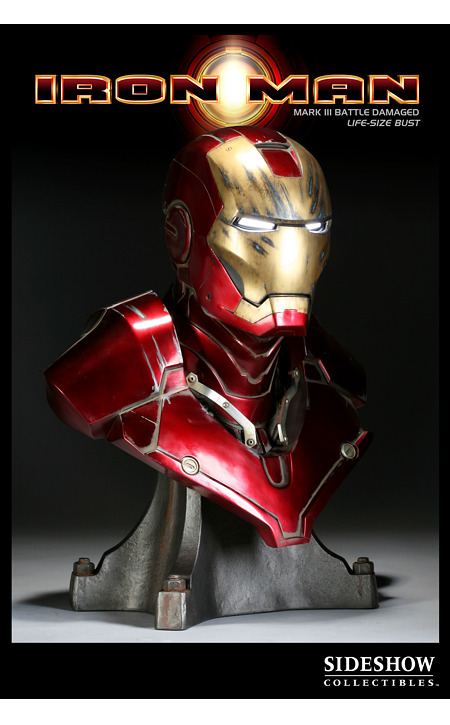 Battle Damaged Edition Iron Man Bust by Sideshow Collectibles