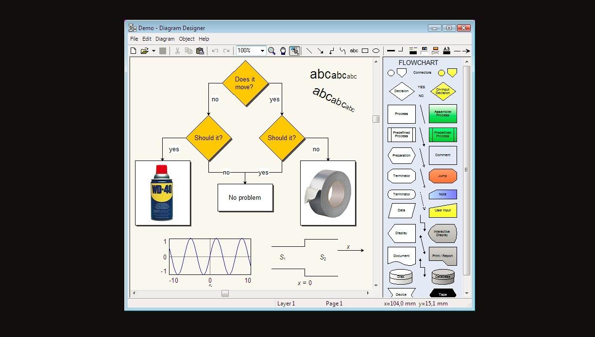 hight resolution of diagram designer