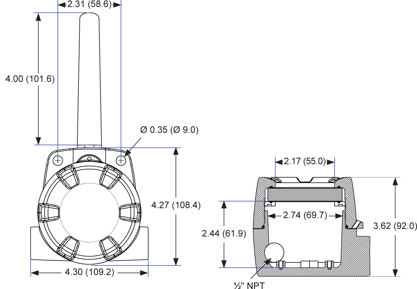 PDW30 Point-to-Point Wireless Process Signal Bridge