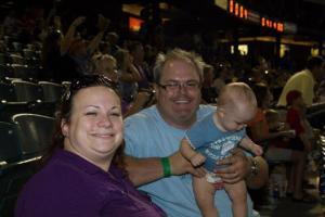 Chambers Family at the Ballgame