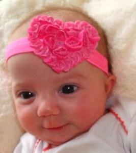 lilly heart headband
