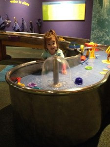 Water table at Maryland Science Center in Baltimore, MD.