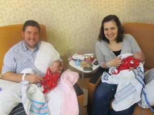 holidays in the NICU micro preemie twins