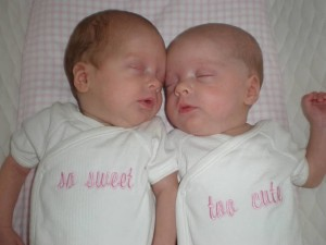 newborn girls sleeping