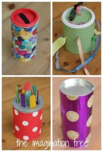 fine motor skills coffee can