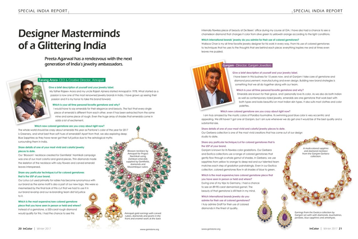 Designer Masterminds of a Glittering India_InColor Winter 2017