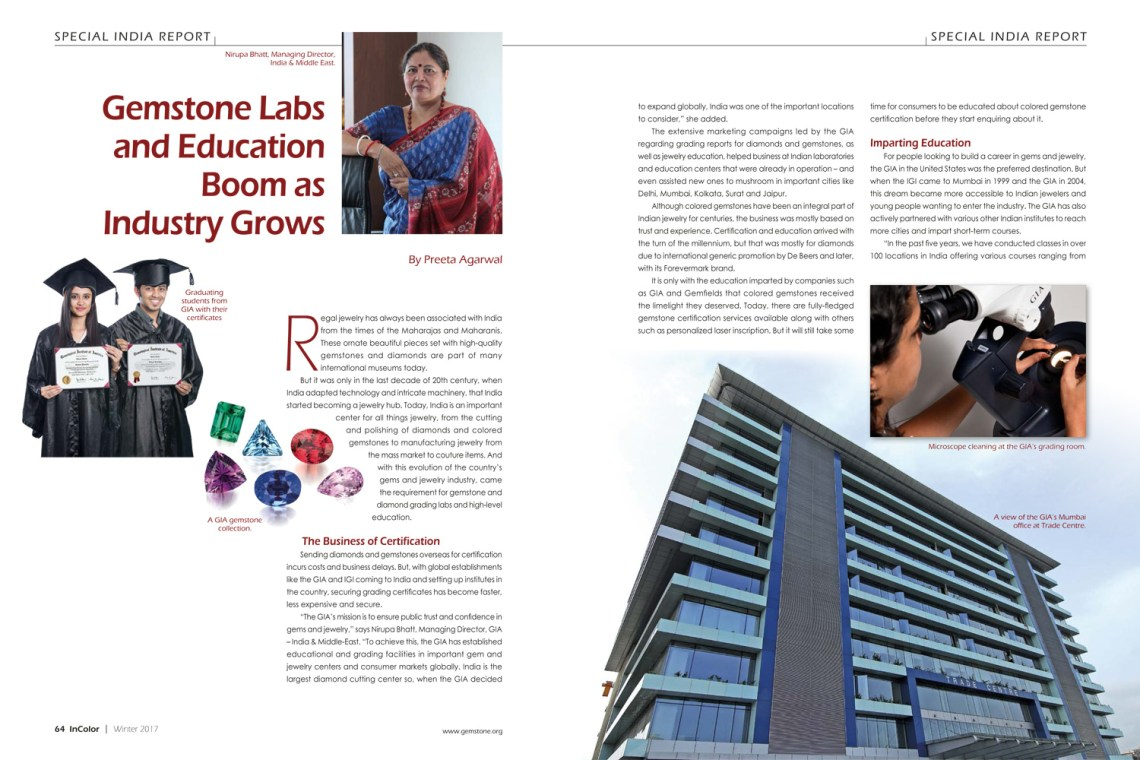 Gemstone Labs and Education Boom_InColor Winter 2017