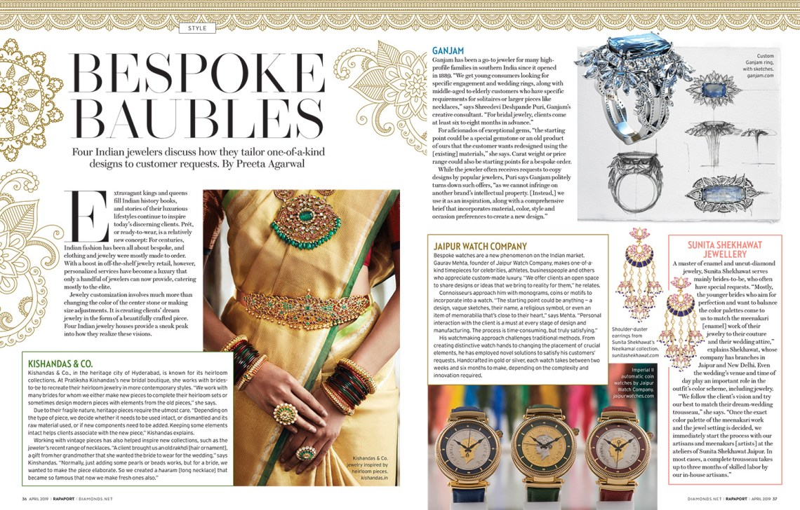 Bespoke Baubles X Rapaport Magazine, Victoria's Jewelry Box