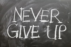 The key to college is persistence and to never give up!