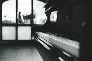 A stand-up piano