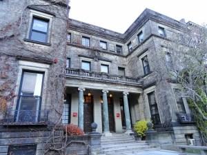 Boston University building in vines
