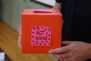 A small cardboard box