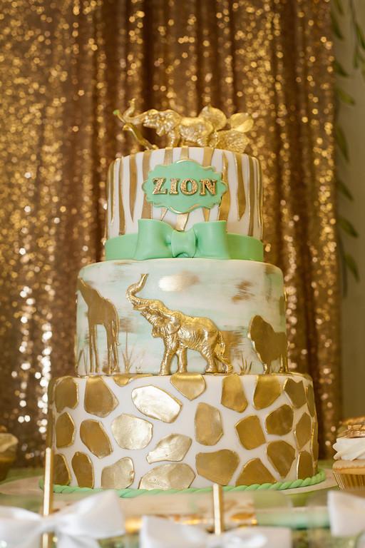 Urlissau0027s Golden Safari Themed Baby Shower