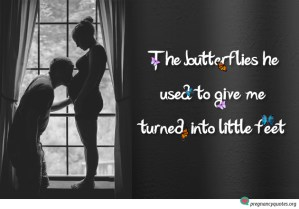 butterflies pregnancy quote