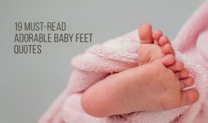 Adorable Baby Feet Quotes In Pink Blanket