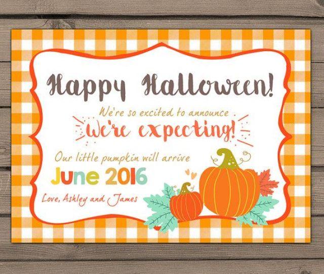 Halloween Pregnancy Announcement Card