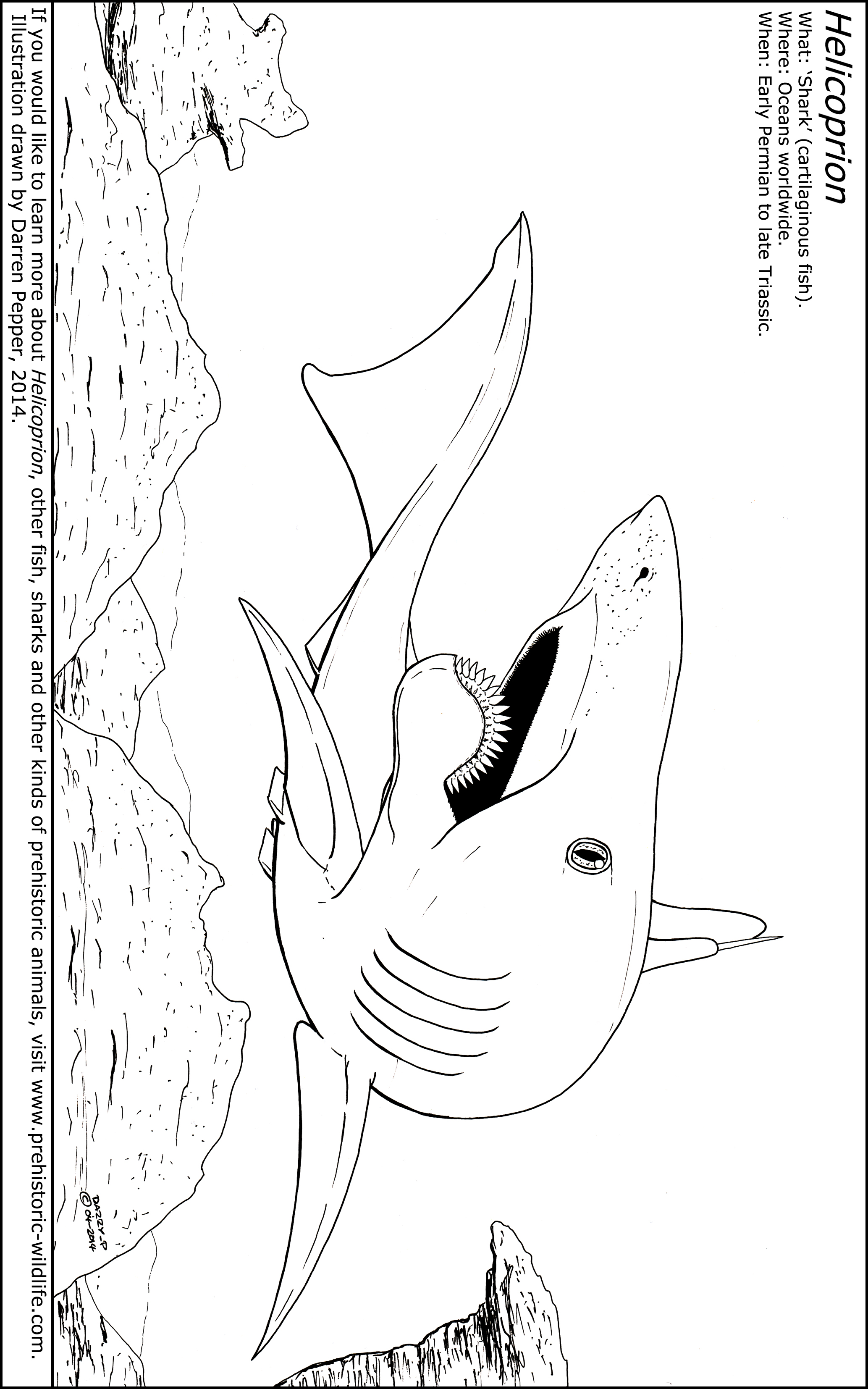 Prehistoric Sharks Coloring Coloring Pages