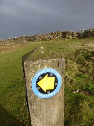 Hiking path sign