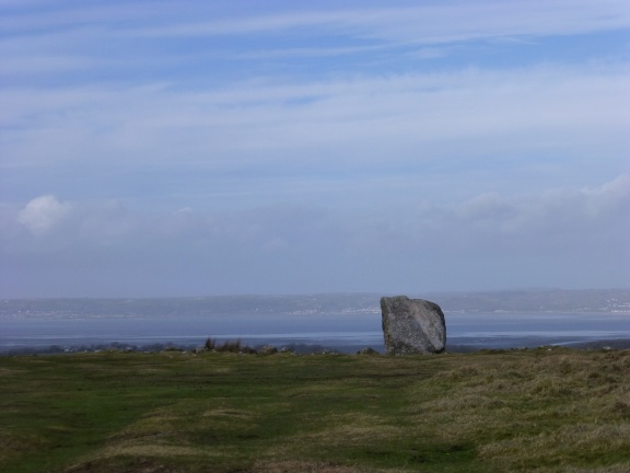 Arthur's stone - a monolithic gravestone from about 4500 years ago. Later on King Arthur seemed to have passed by, too.