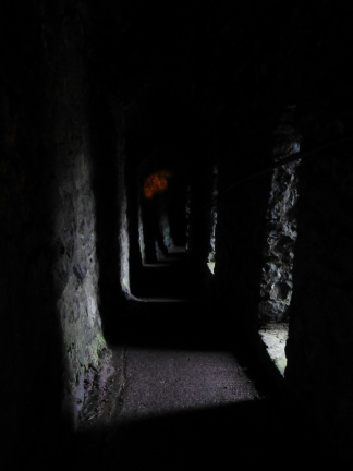 The corridor down to the cave