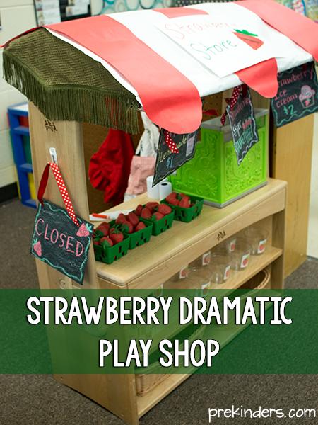 Strawberry Dramatic Play Shop  PreKinders