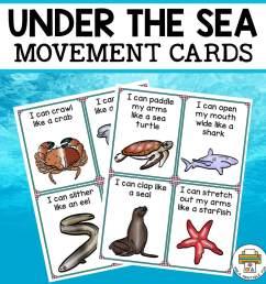 Under the Sea Movement Cards - Pre-K Printable Fun [ 960 x 960 Pixel ]