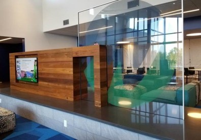 MSCBA - MWCC - INT - Bemis Lounge glass and wood wall