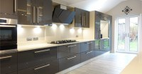 Contemporary Gloss Grey Kitchen Design from Premier ...