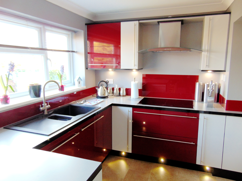 3 Red Kitchens 3 Different Ways all from Premier Kitchens