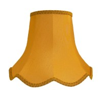 Gold Fabric Lamp shades Ceiling Wall Lights Table Floor ...