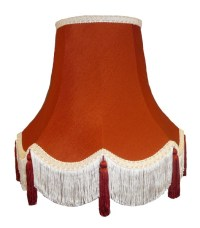 Terracotta Fabric Lamp shades Ceiling Wall Lights Table ...