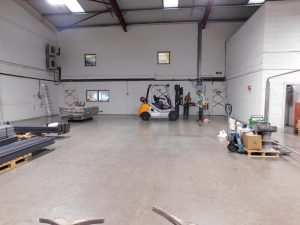 Propack warehouse before the mezzanine floor was installed.