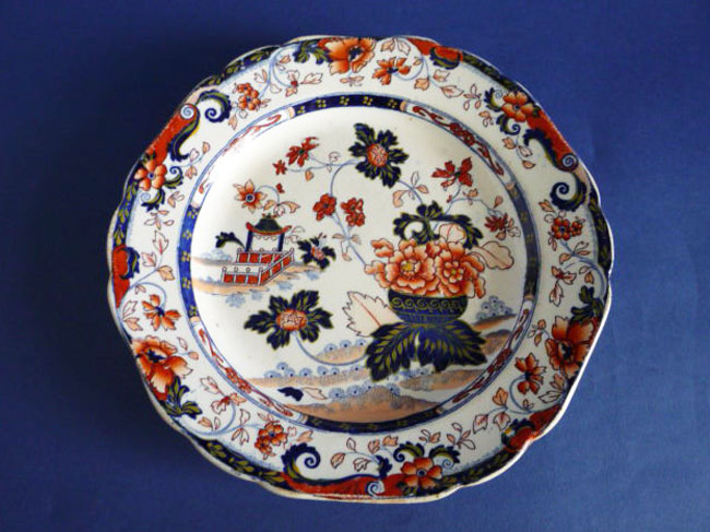 Charles Meigh Improved Stone China Amherst Japan Cheese Plate c1835 Sold