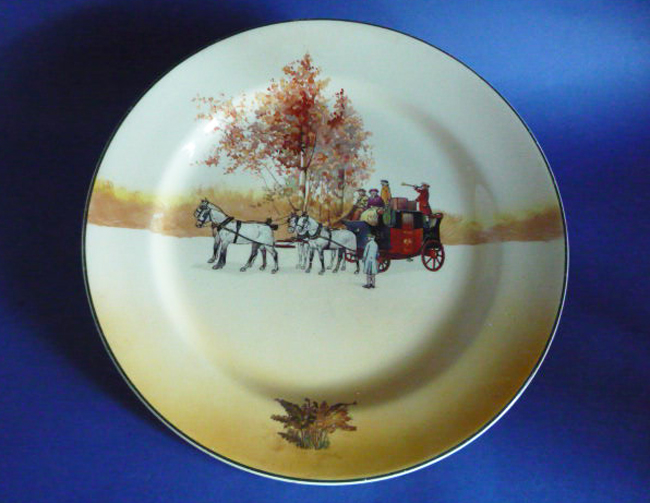 Large Royal Doulton Coaching Days Rack Plate By Victor